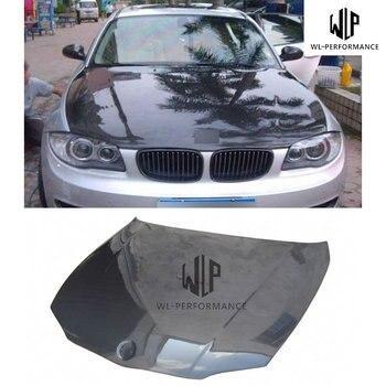 E87 High Quality Carbon Fiber Front Engine Hood Bonnets engine Covers For BMW 1 Series E87 2004-2011