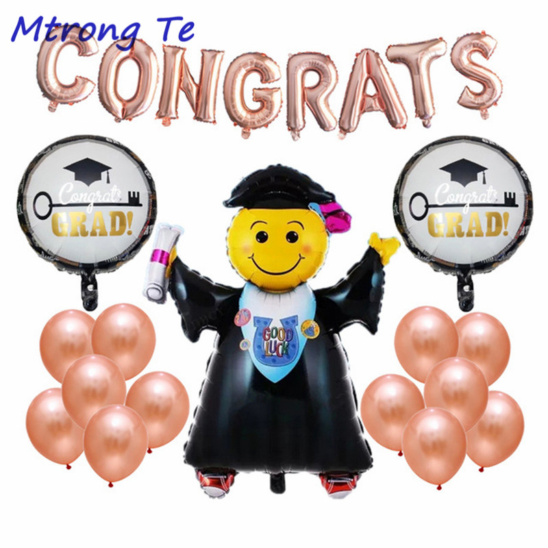 Ballons & Accessories Event & Party Smart 23pcs/lot Good Luck Graduated Doctor Foil And Latex Balloons Kit For Congrats Grad Graduation Ceremony Party Decor Supplies Let Our Commodities Go To The World