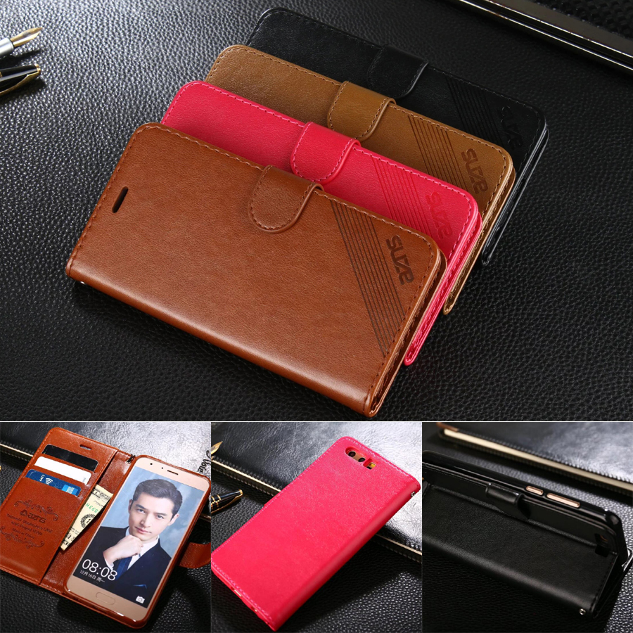AZNS Cases For Huawei Honor 9 5.15 Wallet Pu Leather Case Stand Flip Card Hold Phone Cover Bags For Huawei Honor 9