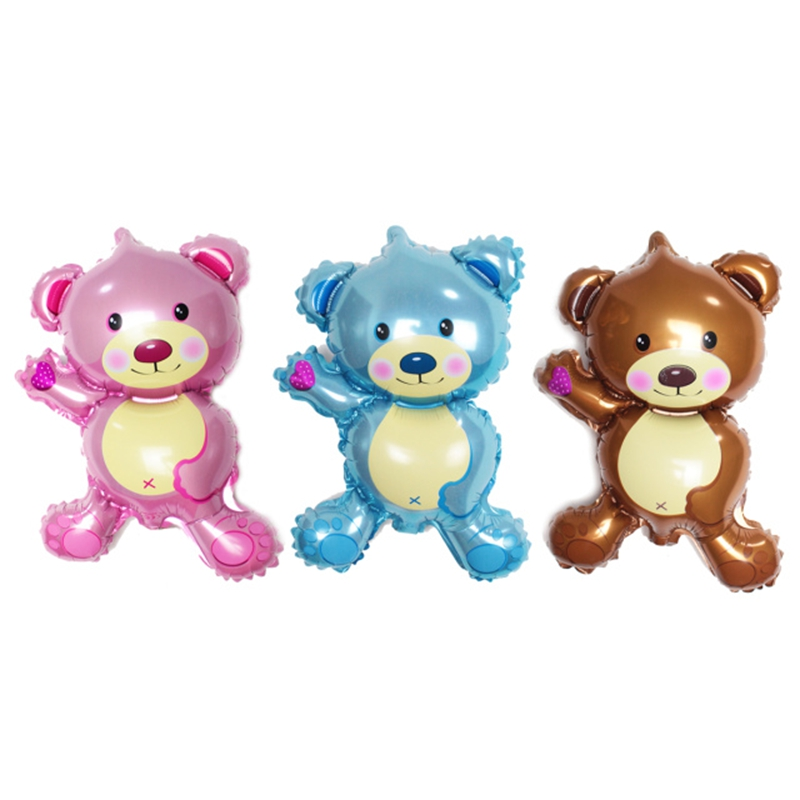 5pcs Mini Bear Teddy Bear Foil Balloon Aluminum Balloons Toys  Balloon Toy For Children Baby Gifts