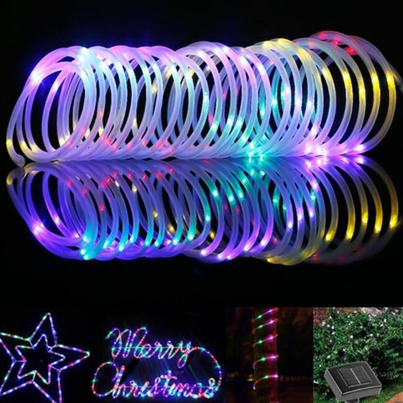 Solar Lampu Taman Outdoor Tahan Air String Lampu 7 M 50led Warna Warni Selang Ringan Natal Tahun Baru Lampu Led Dekorasi Lampu Surya Aliexpress