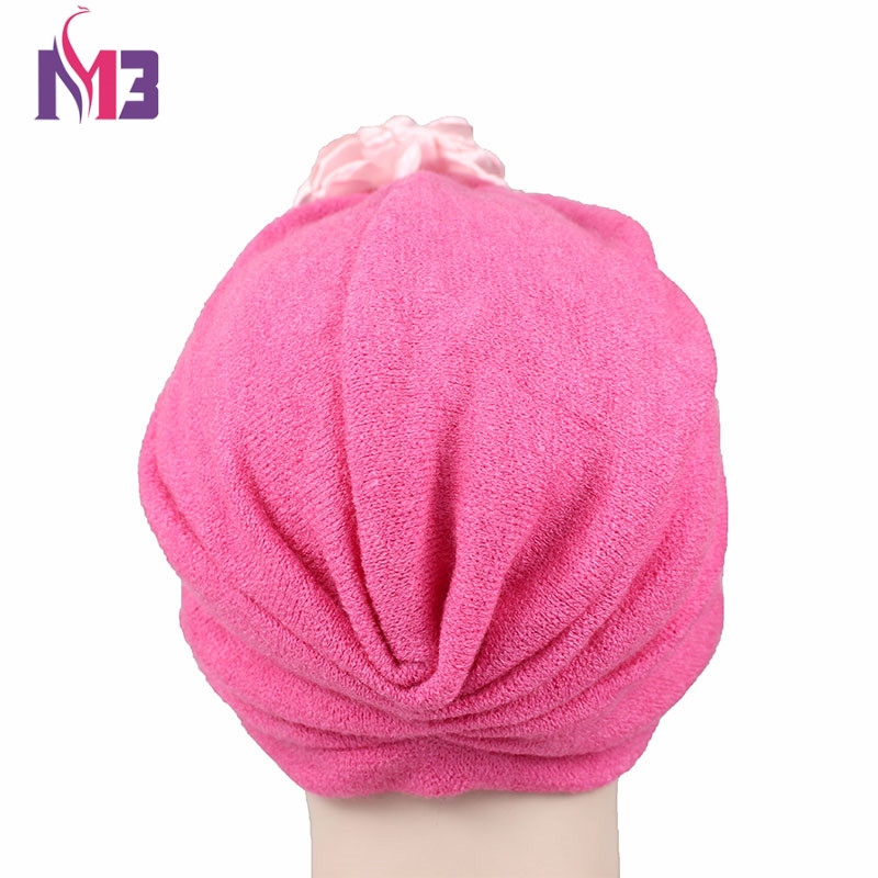 Women Wool Blending Turban Head Covering Winter Chemo Headwear Ladies Hijab Turban Headband with Flower Turbante for Women in Women 39 s Hair Accessories from Apparel Accessories
