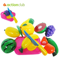 1 Set Children Toys Cute Baby Kitchen Food Early Education Toy Cartoon Children Fruit Vegetable Pretend Toys for Kids HT3181