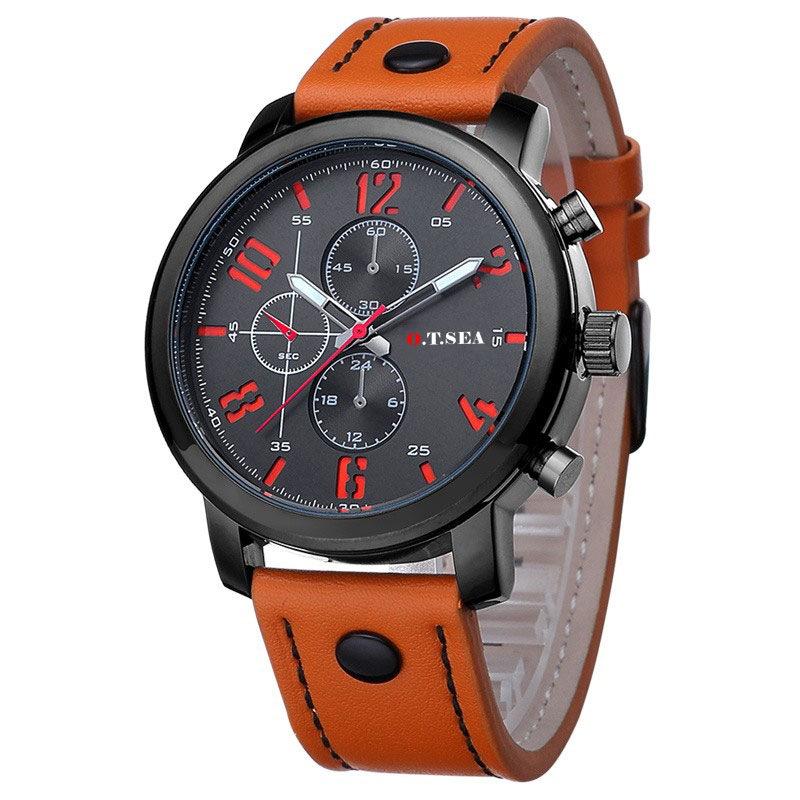 2017 Dress Simple fashion watch O.T.SEA Brand Casual Watches Men  Sports Watch Quartz Analog Wristwatch Male Relogio Masculino fashion top gift item wood watches men s analog simple bmaboo hand made wrist watch male sports quartz watch reloj de madera