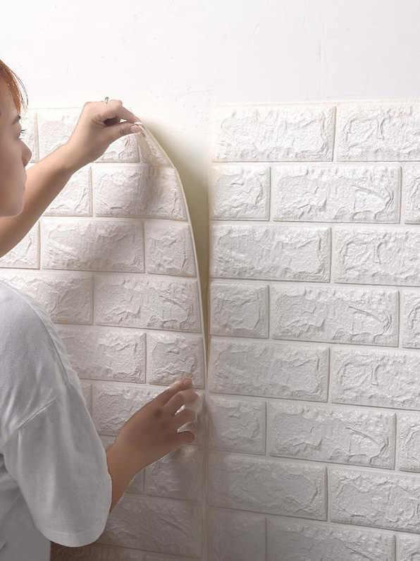 Venda quente de Espuma PE 3D Papel De Parede Parede DIY Decoração Adesivos De Parede Em Relevo Papel De Parede de Pedra do Tijolo Quarto Casa 60X30X0.8 cm Poster