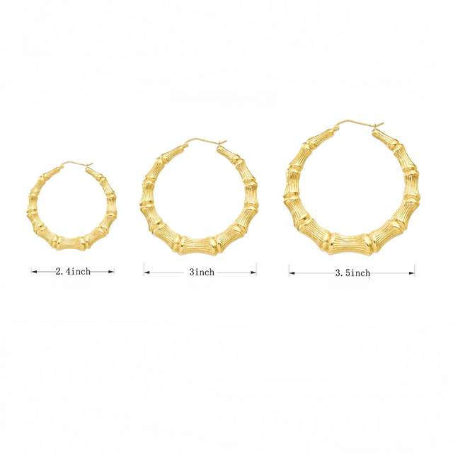 Placeholder Customizable Customize Name Earrings Bamboo Style Custom Hoop With Statement Words