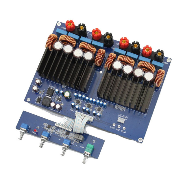 US $57 6 30% OFF|TAS5630 OPA1632 TL072 2 1 channel 1200w Class D Digital  Amplifier board 330UF/100V*4-in Amplifier from Consumer Electronics on