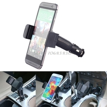 USB Car Charger Cigarette Lighter Mount Holder For Universal Mobile Phone -R179 Drop Shipping