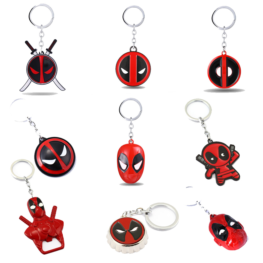 Deadpool 2 Keychains Wade X-Men Pendant Metal Key Ring Holder Superhero Men Car Bag Key Chain llavero Chaveiro Movie Jewelry