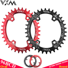 VXM Oval Round Bicycle Crank&Chainwheel 96BCD Wide Narrow Chainring 32T/34T/36T/38T For MTB Bike Crankset M7000 M8000 M9000