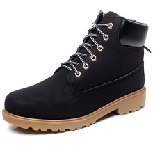 Unisex Fashion Leather Boots Winter font b Men b font Lace Up Cow Muscle Boots Spring