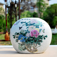 Jingdezhen porcelain vase Archaize kiln vase Modern China handicraft European furnishing articles