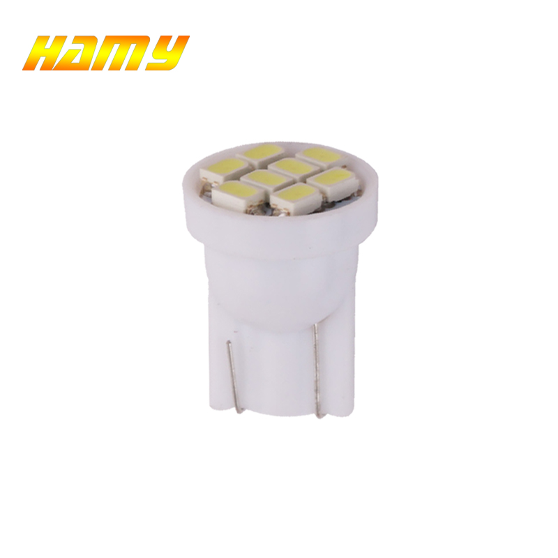 1x Car T10 W5W LED Signal Bulb Interior Dome Reading Light Super Bright Auto Luggage Trunk License Plate Lamp White 8SMD