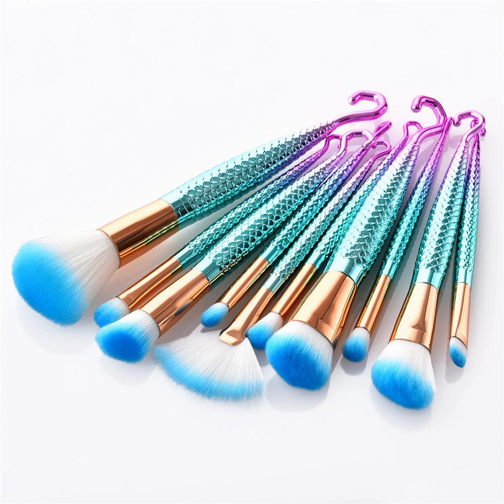 7pcs Diamond Shape hook Handle Makeup Brushes Set Foundation Powder Blush EyeShadow Lip Brush kwasten Beauty Makeup Tools Kit
