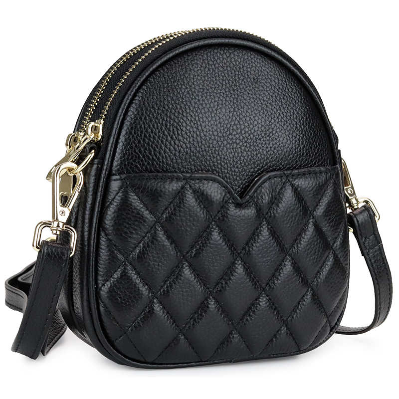 Marque de luxe sac à bandoulière femmes 2019 nouvelle mode Plaid Mini Messenger sac dames Designer téléphone bandoulière sacs Zipper moto
