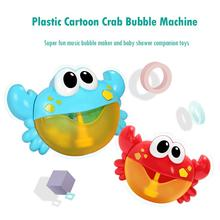 Plastic Cartoon Crab Bubble Machine Music Maker Bath Toy Funny Water One Button Baby Shower