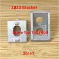 20PCS 2020 (20*17) Corner Fitting Angle L Brackets Connector Fasten Aluminum Profile Extrusion Slot 6 Alu Bracket