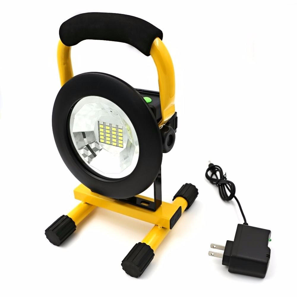 IP65 24 LED 3 Modes 2400lm Rechargeable Floodlight Portable Work Spotlight LED Street Flood Light For
