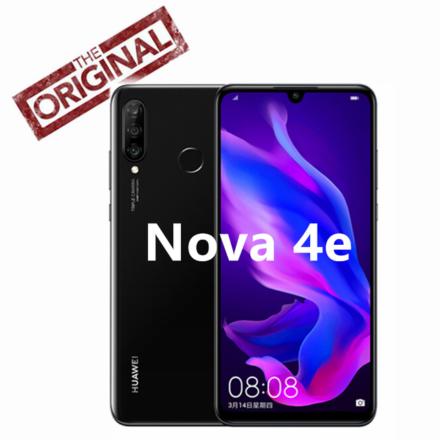 Original Huawei Nova 4e Cell Phone 6.15 Inch Front 32.0MP 3340mAh Kirin 710 Quick Charger Android 9.0 EMUI 9.0 Smart Phone