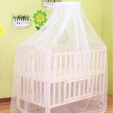 Summer Floded Mosquito Net Baby Bed Cradle Netting Toddler Infant Bed Tent Princess Mosquito Mesh For Infant Portable Crib White
