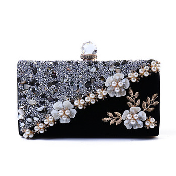 Fashion Bags For Women 2018 Vintage Velvet Evening Clutch Bags Crystal Ladies Handbag Wedding Women Evening Shoulder Bags Bolsas Clutches