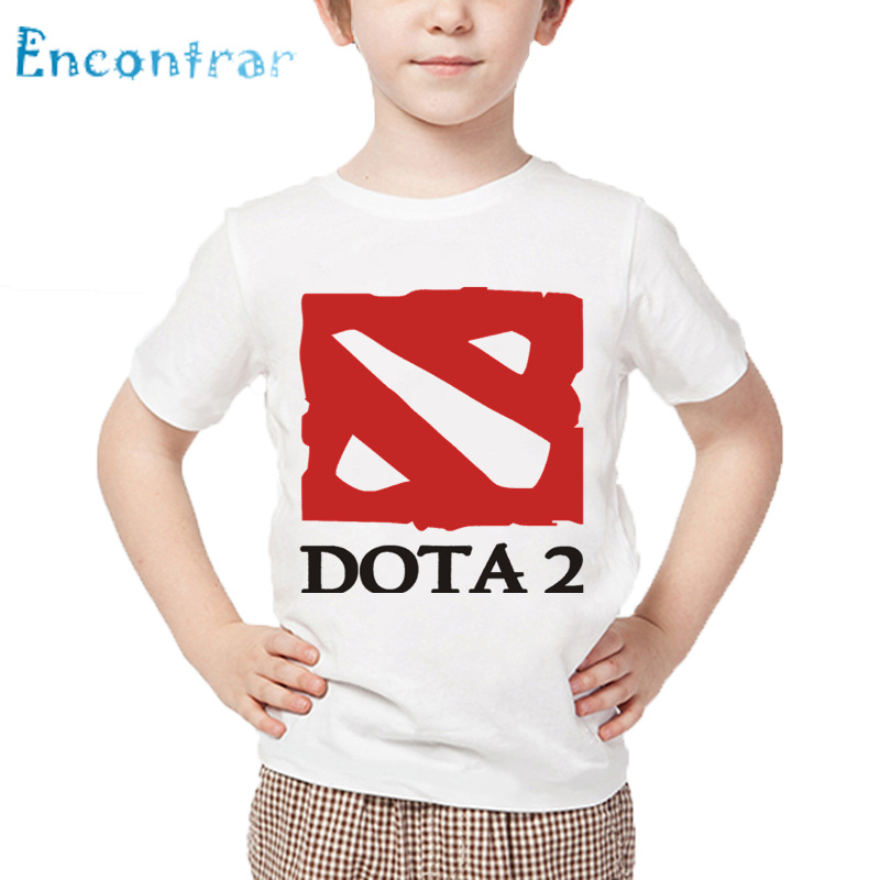 Kids Game Dota 2 IT5 Natus Vincere Print T shirt Children Summer White Tops Boys and Girls Fashion Casual T-shirt,HKP2240