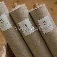 Phổ Vải, Linen Cotton Vải bằng Đồng Hồ, 3 # Màu Sắc Tự Nhiên Yếu Tố Gai cho Chắp Vá Rèm, Dệt May, Quilt, Mô May