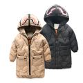 boy jacket winter long children cotton padded jacket baby thickening outwear