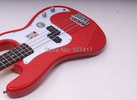 Left Handed Guitar Top Real Initiative Adapterization Maple Bass Guitar Lp Left Handed He8673a Electric Bass, Bassred