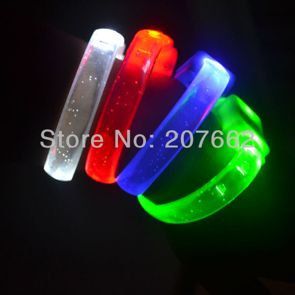 Free shipping led bracelets novelty items led wristband for christmas gifts lOGO(above 1000pcs)
