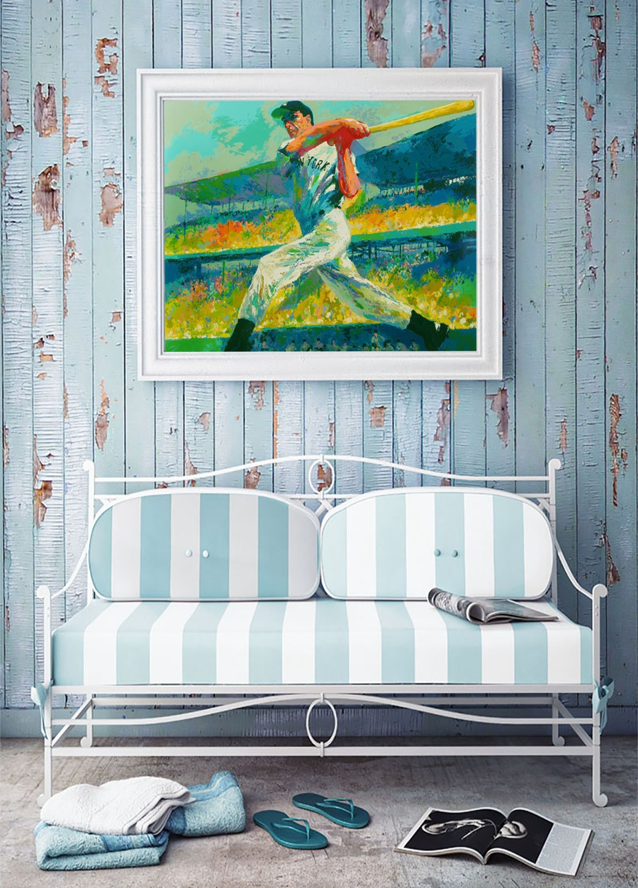 A1848 LeRoy Neiman Colorful Abstract Baseball Players HD Canvas Print Home Decoration Living Room Wall Pictures Art Painting In Calligraphy From