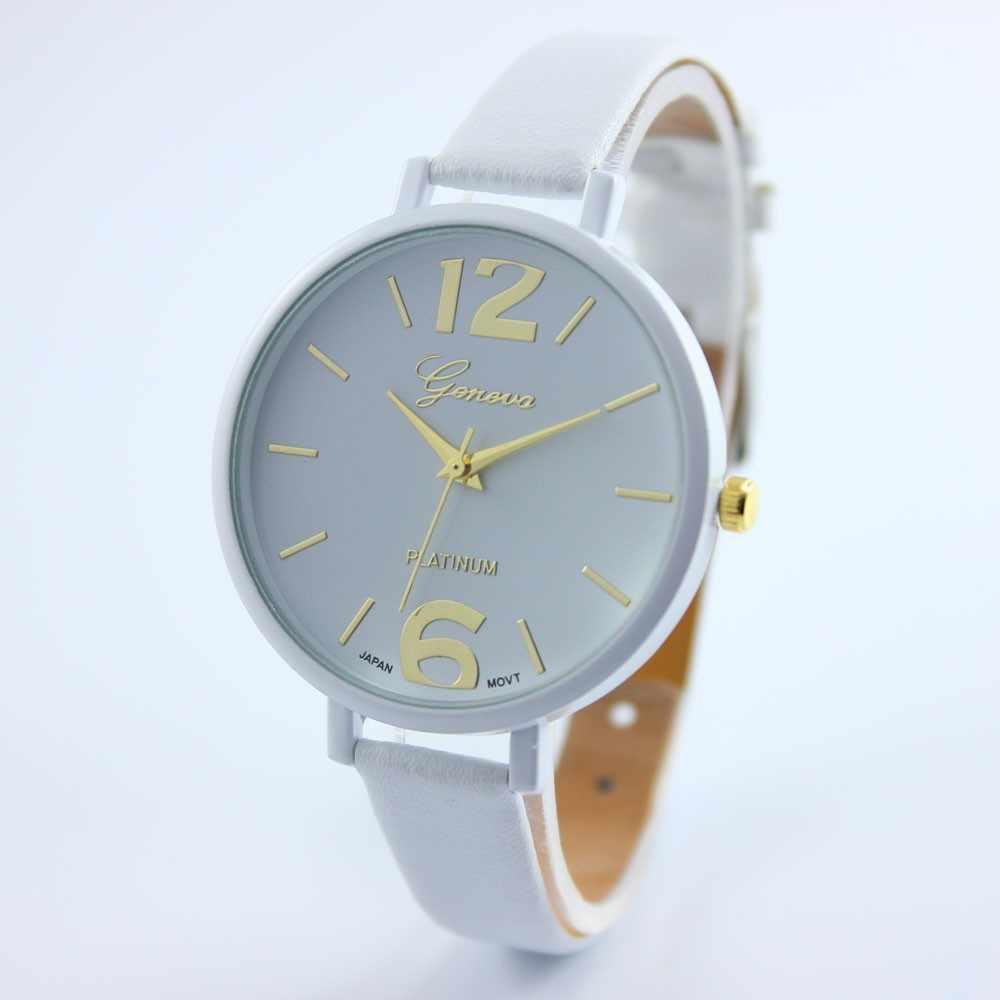 2019 Donne Orologi Con sottile di Cuoio Semplice Top di Marca di Lusso casual Rotonda Del Quarzo di fascino Colorato Arcobaleno Reloj Mujer