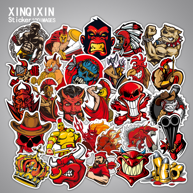 100Pcs Stickers Knight world Luggage Laptop Decal Toys Bike Car Motorcycle Phone Snowboard Doodle Cool Sticker