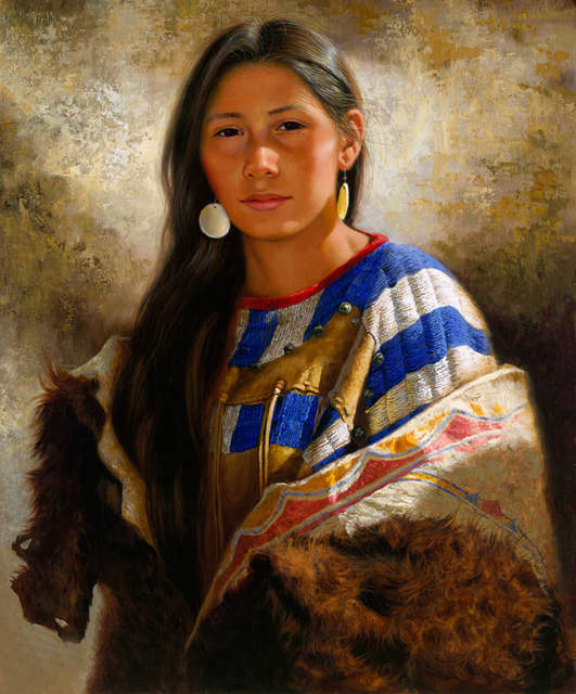 Us 23 75 5 Off 2019 Home Office Top Art American Native Indian Woman Art Oil Painting Print Work Good Quality Painting On Canvas In Painting