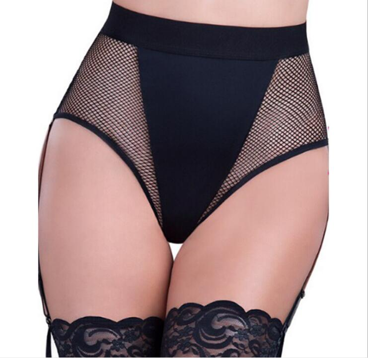 Wholesale and retail high quality woman underwear top selling 2 colors net lingerie sexy see through women garter set