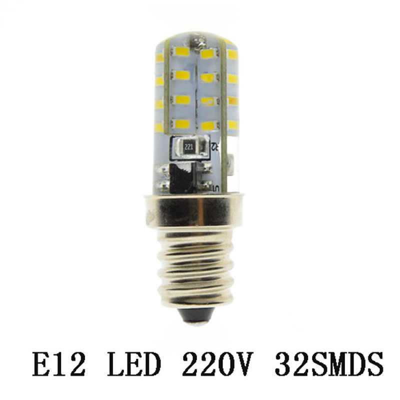 2018 NEW Led Light E12 Led Bulb NO Dimmable Lamps AC  220V Spotlight Bulbs 3014 SMD 24 32 48  Leds Sillcone Body