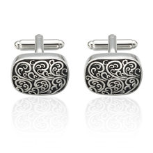 Vintage Style High Quality Wave Pattern Cuff Link Retro Exquisite Men's Flower Cufflinks Square Sleeve Nail hot style Jewelry(China)