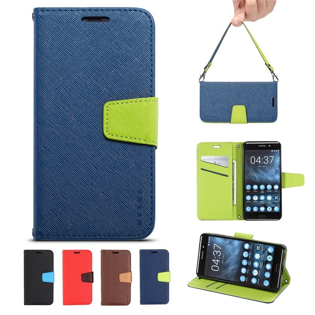 quality design 889be 46cd6 US $4.24 15% OFF|Luxury Wallet Flip Case for Nokia 6 2018 Soft Phone Book  Leather Cover 360 Degree Protective for Nokia X6 8 7 Plus Flip Casing -in  ...