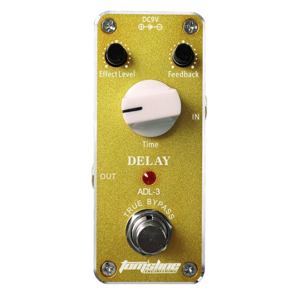 Aroma Delay Guitar Effect Pedal ADL-3 Mini Analogue Effect True Bypass Feedback Time Adjustable Quiet IC Chip aroma adr 3 dumbler amp simulator guitar effect pedal mini single pedals with true bypass aluminium alloy guitar accessories