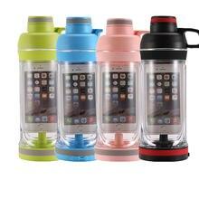 Герметичная портативная Спортивная бутылка для воды с телефоном