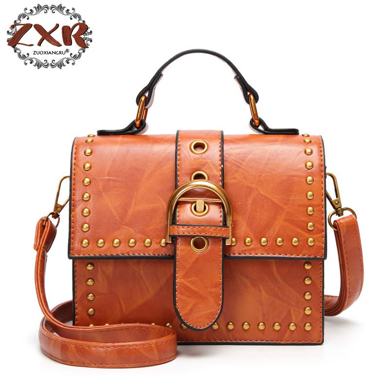 New Fashion Women Shoulder Bag Vintage Rivets Black Orange Green Red Wine Red Crossbody Shoulder Stylish Bags for Women цена
