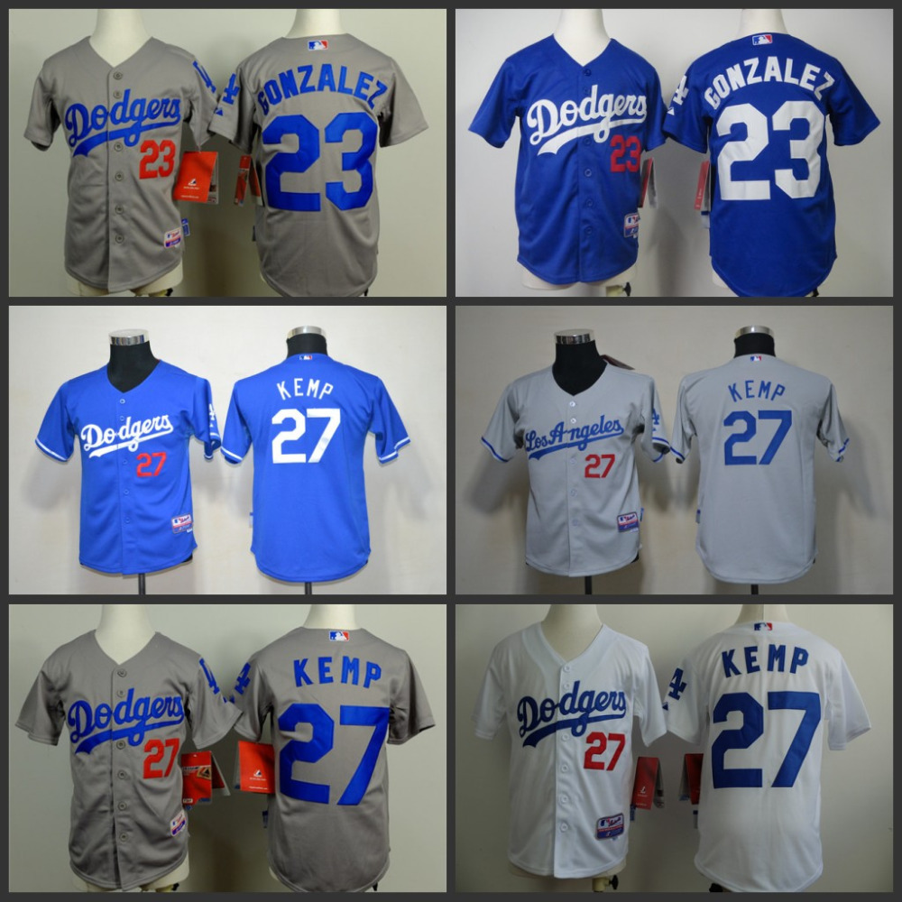 new product c5ccb 17760 Youth/Kids Los Angeles Dodgers 23 Adrian Gonzalez 27 Matt ...