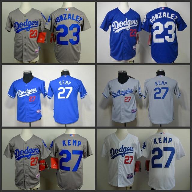 Youth Kids Los Angeles Dodgers 23 Adrian Gonzalez 27 Matt Kemp Jersey la  dodgers Gonzalez Matt Kemp baseball jerseys stittched 63ca4da6e44