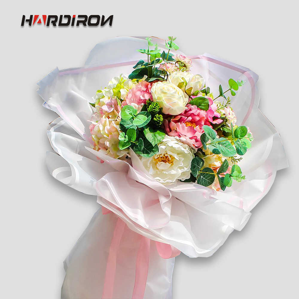 HARDIRON Line Bouquet Wrapping Paper Translucent Paper Florist Supplies Flowers Wrapping Paper Material Flower Shop Goods