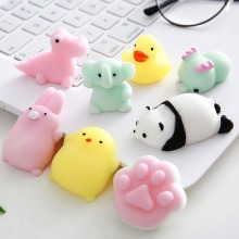 Squishy Cute toys mini change color Kawaii Anti-stress cloud/cat/fox slow rising Squeeze Stress relief Animal mochi gift