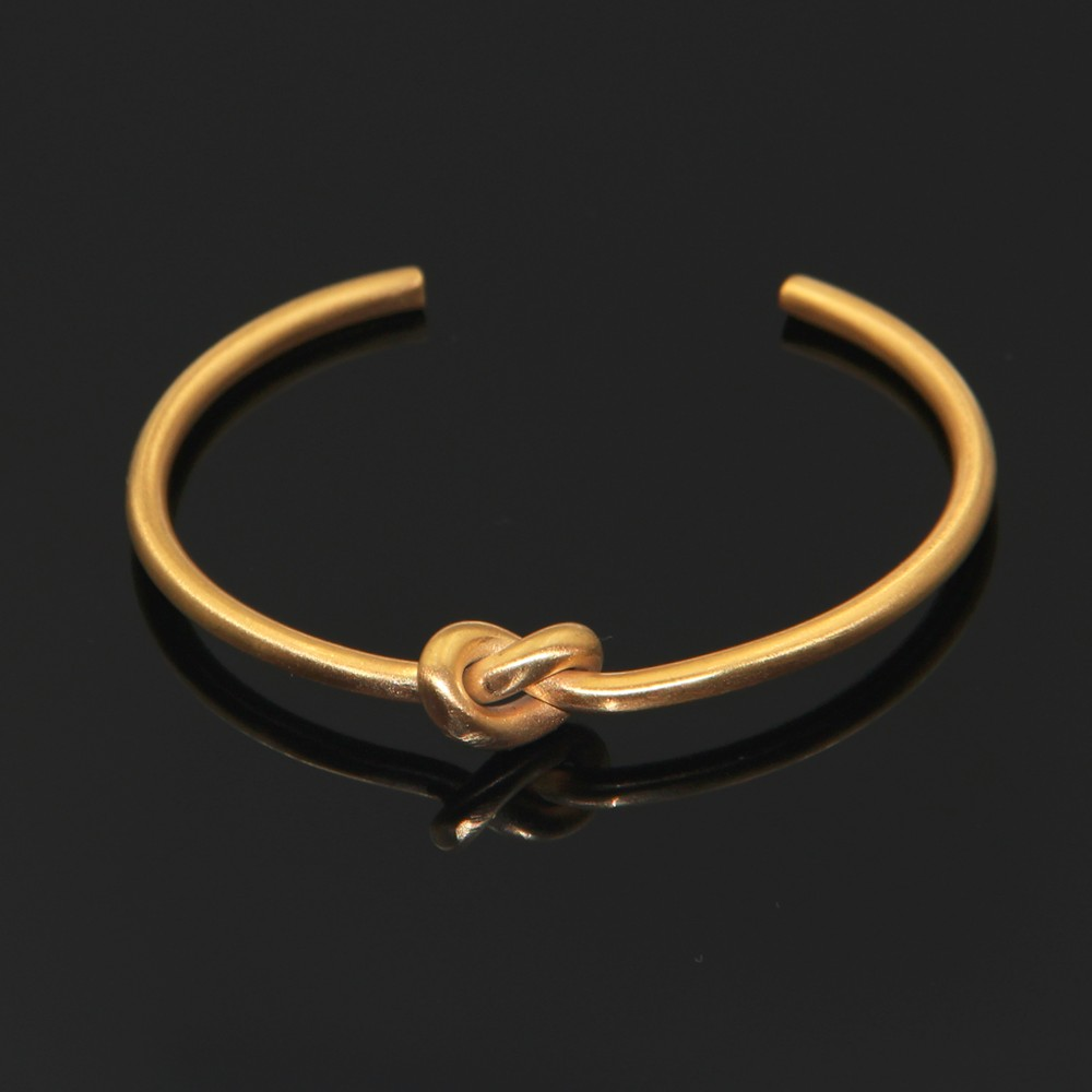 5e43b60abb291 Top Simple Knot Cuff Bracelet Manchette Bracelets Gold Bangle For Women  Knot Extra Thin Bracelets Pulseira Feminina Masculina-in Bangles from  Jewelry ...