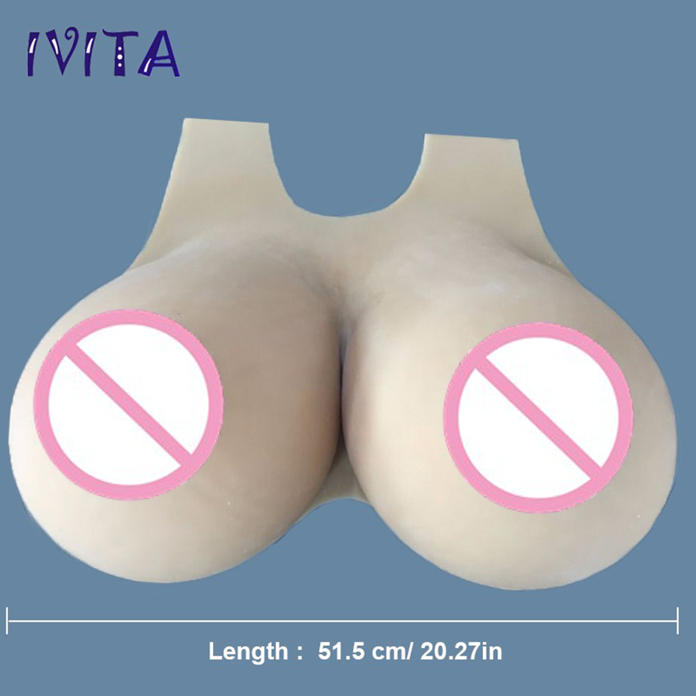 3D Magic Boobs us $1266.14 26% off|ivita 12kg huge fake boobs realistic silicone breast  forms enhancer big tits for crossdresser transgender drag queen cosplay on
