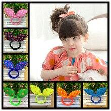 Super lindo orejas de conejo de pelo accesorios titulares de pelo chica  niño mujer impresión mono 80c75941b99a