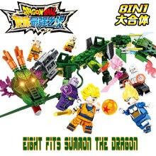 цена на SY1236 Dragon Ball Super 8 in 1 summoned Shenlong Sun Wukong Vegeta Klinji even spelled into the building blocks legoinglys toys