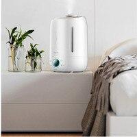 Deerma DEM-F500 umidificador de ar ultra sônico 5l silencioso aroma névoa maker led tela toque função temporização difusor água em casa